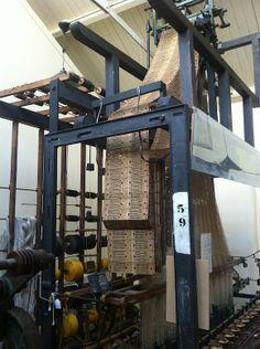 Jaquard loom at  Paradise Silk Mills In macclesfield, UK