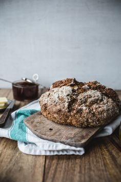 Cranberry-Pecan-Rye Soda Bread - Top With Cinnamon