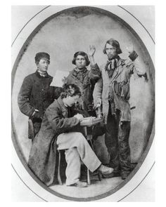 ca. 1861, [Swearing-In Native American Civil War Recruits] via the Wisconsin Historical Society, Civil War Collection