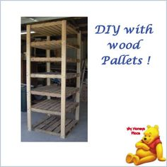 DIY with Wood Pallets  http://myhoneysplace.com/simple-and-easy-diy-projects-updated-often/