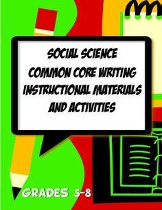 History Common Core Activities, Resources & Templates Grad