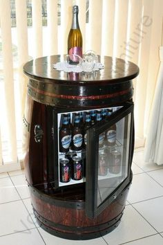 Wine barrel fridge
