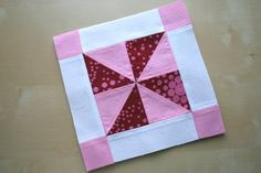 I know some of you are participating in one (or more) pinwheel  quilt-alongs  right now so I hope you don't mind one more pinwheel block. Th...