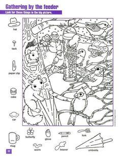 6 Best Images of Winter Hidden Picture Printables - Free Printable Christmas Hidden, Free Printable Hidden Pictures Winter and Printable Hidden Objects Coloring Pages Hidden Object Puzzles, Hidden Picture Puzzles, Kindergarten Worksheets, Worksheets For Kids, Colouring Pages, Coloring Books, Puzzle Photo, Hidden Pictures Printables, Hidden Images