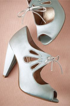 Complete your wedding day look with a pair of classic bridal shoes. BHLDN offers wedding heels that are as beautiful as they are comfortable, no matter your venue. Shop wedding shoes for the bride now! White Bridal Shoes, Silver Wedding Shoes, Wedding Pumps, Silver Shoes, Lace Up Heels, Pumps Heels, High Heels, Comfortable Heels, To Infinity And Beyond