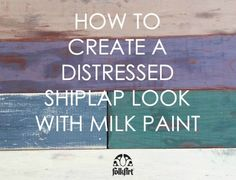 Not ready to commit to a whole wall but love the shiplap look? Learn how to add a faux plank look to furniture and distress new wood to give a weathered wood effect! Cathie & Steve use FolkArt Milk Paint and FolkArt Home Decor Chalk to upcycle an 80s coffee table into a coastal inspired statement piece in the latest episode of Furniture Flip.