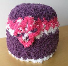 Crocheted Woman's Hat Pink Purple and White by coriescrafts, $14.99