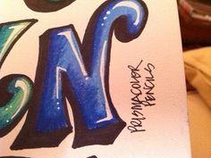 block prismacolor pencil -close up N | by rappy2766