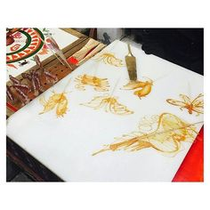 Sugar painting. Always be excited to get the Dragon. #糖画#清明