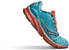 The Saucony Kinvara 3 in Blue and Red. Got to test drive these bad boys before they're released. They feel great!