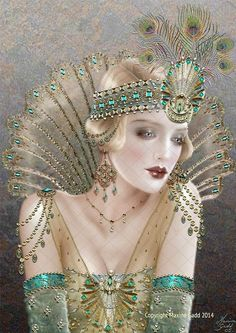 Maxine Gadd published fairy and fantasy artist. Exceptional digital illustrations and mystical beings Art And Illustration, Illustrations, Vintage Modern, Vintage Art, Vintage Paintings, Moda Art Deco, Art Nouveau, Arte Steampunk, Art Deco Cards