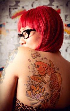 Koi Tattoo and red hair!