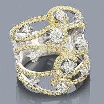 White & Yellow Diamond ring ❀