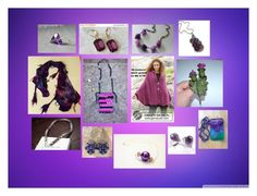 """Stunning Handmade Fashion Accessories in Purple"" by polinakaranda ❤ liked on Polyvore"