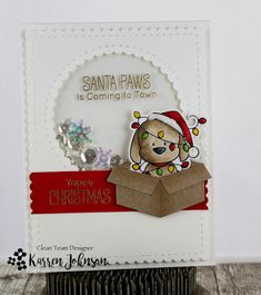 KarrenJ - Stamping Stuff: Santa Paws