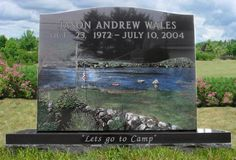 teardrop headstone designs | Family Headstone | Collette Monuments