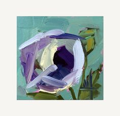 Purple Poppy no. 6 Original Floral Oil Painting by prattcreekart
