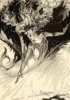 """haruchonns:      """"The Sea Fairies"""" by L. Frank Baum illustration:John R. Neill"""