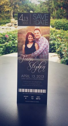 Wedding Save the Date Ticket // Affordable DIY Printable on Etsy, $18.00