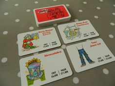 Waddingtons Pay Day Game Set of Deal Cards, Game Pieces, Crafts, Upcycling