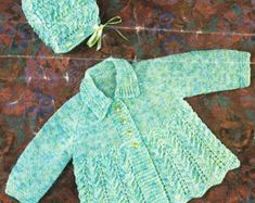Studley 1028 baby matinee coats  vintage knitting by Ellisadine