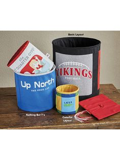 How to Turn special T-shirts into fantastic storage bin pop-ups.   These containers will enable you to keep your home organized as well as fun, fashionable and even nostalgic. They make great graduation and even birthday gifts. Pop-up refills sold separately.