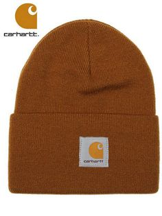 Nwt Carhartt Mens Brown Loge Winter Beanie Cap Hat Great Gift