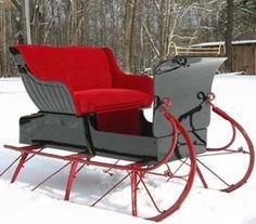 The perfect sleigh!  Gorgeous!
