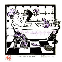 I shall read in the bath