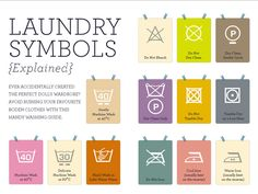 Laundry symbols. Don't throw your money down the drain. Wash your clothes correctly and you won't have to fork out money for new ones.