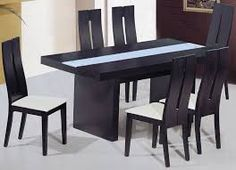 Black wood kitchen table modern dining set table with unique design charming square dining set table black wooden blue black metal and wood kitchen table Wooden Dining Table Modern, Contemporary Dining Room Sets, Modern Kitchen Tables, Dining Table Design, Dining Table In Kitchen, Kitchen Contemporary, Wooden Sofa, Dining Set, Kitchen Island