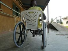 Catalan designers Josep Mora and Clara Romaní build wheelchairs using recycled plastic or wooden chairs, significantly reducing the cost for those in developing countries. Amazing.