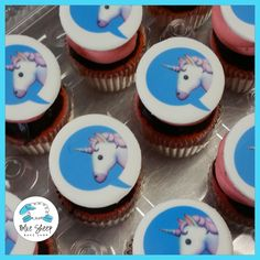 Unicorn Emoji Birthday Cupcakes