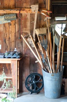 Great idea for storing my garden  tools from The Gardens of Blackberry Farm