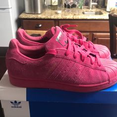 premium selection 5d855 0df7d adidas Shoes   Adidas Superstar City Series   Color  Pink   Size  5.5b