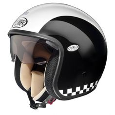 Buy open face helmets from The Cafe Racer. FREE UK delivery and discounted international delivery. Open Face Motorcycle Helmets, Open Face Helmets, Chopper Motorcycle, Motorcycle Outfit, Women Motorcycle, Vespa, Retro Helmet, Vintage Helmet, Indian Motorcycles