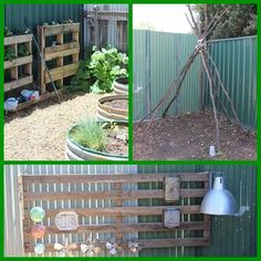 A huge collection of ideas for creative outdoor play areas shared by early years educators. Try them in the backyard or daycare spaces! Outdoor Learning Spaces, Kids Outdoor Play, Outdoor Play Spaces, Kids Play Area, Outdoor Education, Outdoor Games, Outdoor Decor, Backyard Plan, Backyard For Kids