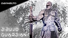 Dibujando un guardian de FOR HONOR / drawing warden | daymelto