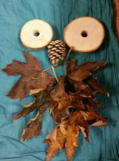 Leaf art provocation at Chadwell Pre-school