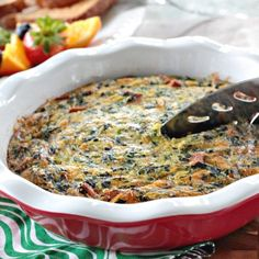 Easy spinach and ham quiche