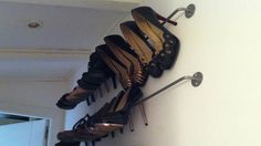Another great idea for storing high heels (inexpensively - allowing you to buy more high heels!)