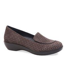 Look what I found on #zulily! Gray Debra Houndstooth Suede Loafer #zulilyfinds