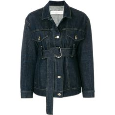 Shop Golden Goose Deluxe Brand Belted Denim Jacket in BLUE at Modalist... ($601) ❤ liked on Polyvore featuring outerwear, jackets, jean jacket, golden goose, blue jean jacket, blue jackets and belted jacket