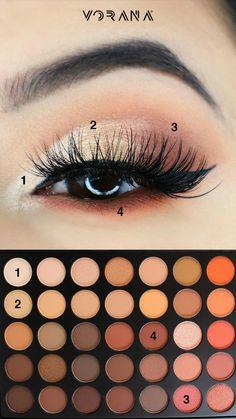 Un look llamativo con tonos claros. #Look #Ojos #Sombras #MorpheBrushes