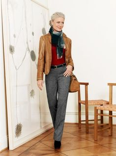 Awesome 12 Trendy Fashion Style Ideas for Women Over 50 Aging Increasing age means a more mature attitude and a more mature fashion style. Maybe some people say that a woman's beauty will grow according to her ag.