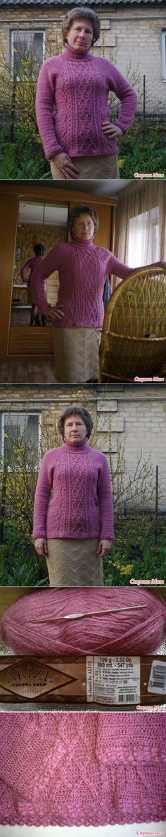 . El jersey de Angora Gold Simli - Todo en azhure... (La labor de punto por el gancho) - el País de las Mamás