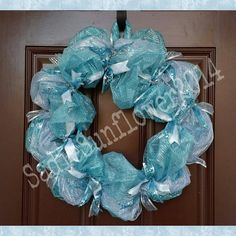 Check out this item in my Etsy shop https://www.etsy.com/listing/222760624/wreath-turquoise-and-silver