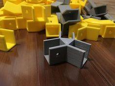 Custom Hexagon Shelves Using Printing: 6 Steps (with Pictures) Autodesk Inventor, 3d Printer Designs, Hexagon Shelves, Double Stick Tape, 3d Prints, Shelf Brackets, Wood Screws, 3d Design, 3 D