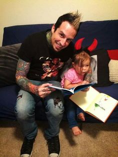 Jeremy Spencer and Sophia (Bobby Watsons baby) reading Cat In The Hat