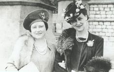 Queen Elizabeth and her husband's sister-in-law, Marina, Duchess of Kent